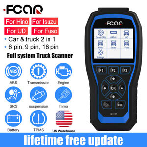 Fcar F506 Full System Diesel Heavy Duty Truck Obd2 Diagnostic Scanner Abs Srs Us
