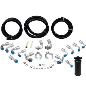 134a Air Conditioning Hose Kit O Ring Fittings Ac Hoses Kit W Black Drier