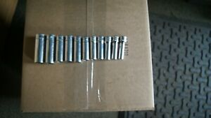 Snap On 11 Sockets 3 8 Drive Metric 6 Point Deep Chrome Sockets