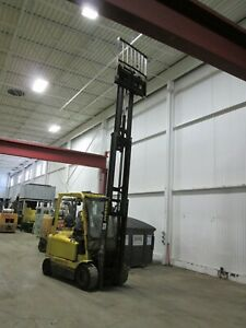 Hyster J50z 34 Electric Powered Forklift Long Forks Included Fa10078