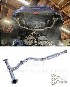 3 Inch T304 Stainless Steel Resonated Midpipe Kit For 15 Up Subaru Wrx Sti