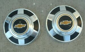 1975 1987 Chevy Truck 3 4 Ton Dog Dish Wheel Center Cap Hubcap Hub Cap X 2