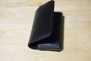 Black Bonded Leather Business Card Holder Case With Magnetic Closure