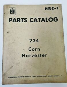b International Parts Catalog Hrc1 234 Corn Harvester Husker Sheller