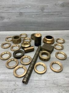 Lot Of Brass Stock Round Washers Miscellaneous Steam Punk Art Craft