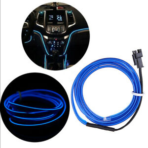 4m Blue Led Light Glow El Wire String Strip Rope Tube Decor Car Party Controller
