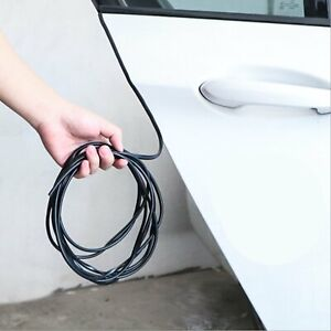 32ft U Shape Rubber Seal Car Door Edge Guard Molding Trim Protectors Strip Black