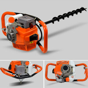 3200w Gas Powerd Post Hole Digger With4 6 8 Inch Digging Auger Drill Bit