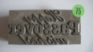 Kwikprint happy Passover Wishes Hot Foil Printing Embossing Die