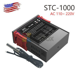 Stc 1000 Ac 110 220v All purpose Temperature Controller Thermostat With Sensor