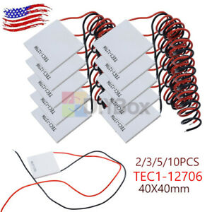 10pc Tec1 12706 Heatsink Thermoelectric Cooler Cooling Peltier Module 2 3 5pcs