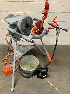 Ridgid 300 Complete Setup 38 Rpm Pipe Threading Machine Threader 811a 418 3