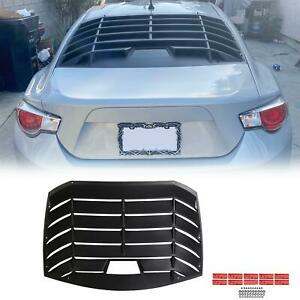 Fits 13 20 Subaru Brz Scion Fr S Coupe Rear Window Louver Rain Sun Wind Guard