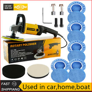 7 Rotary Car Polisher Buffer Sander Polishing Machine 10pcs Microfiber Bonnet