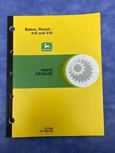 John Deere Parts Catalog For 410 510 Round Balers Pc1896