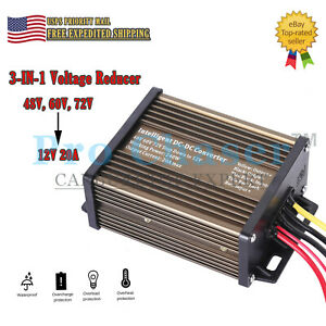 Golf Cart Dc Converter 48v 48 Volt Voltage Reducer Regulator To 12v 20a 240w