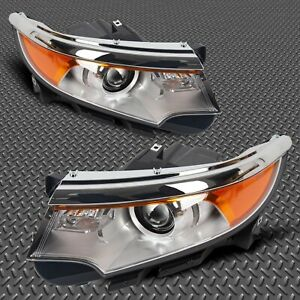 For 2011 2013 Ford Edge Driver Passenger Side Pair Front Lamp New Headlight