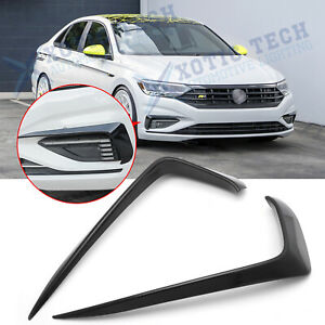 Gloss Black Front Bumper Side Vent Splitter Fog Light Trim For Vw Jetta Mk7 2019