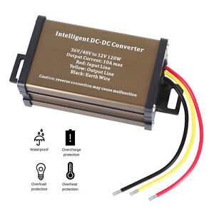Golf Cart Scooter Dc Converter 36v 36 Volt Voltage Reducer Regulator To 12v 10a