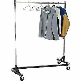 Rolling Z Rack Heavy Duty Square Tubing rz 1 Chrome Upright Hangrail