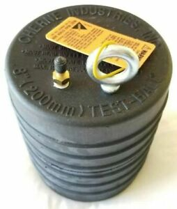 Cherne Part No 41386 Test ball Plug Pneumatic 8 Inch Rubber Oatey New In Box