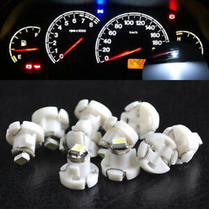 10x White T4 T4 2 Neo Wedge 1 Smd Led Cluster Instrument Dash Climate Bulb Light