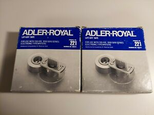 Lot Of 2 Adler royal 221 Lift off Tape For Electronic Typewriter