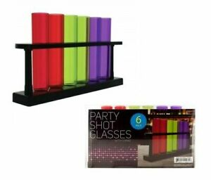 Test Tube Party Shot Glasses With Stand