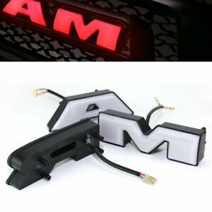 3 Red Led Light Letters Fit For 2009 2012 Dodge Ram 1500 Grille Grill