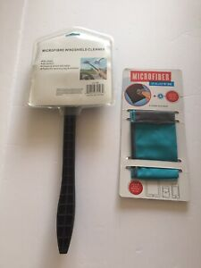 Car Windshield Microfiber Cloth Cleaner Device With Handle With Bonus Gift Fshp