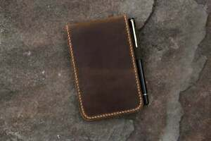 Personalized Real Leather Notepad Cover For Rite In The Rain Top Spiral Notebook