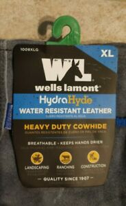 Wells Lamont Hydrahyde Water Resistant Leather Work Gloves heavy Duty Cowhide Xl