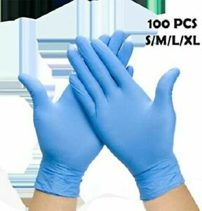100 Pcs Nitrile Durable Rubber Cleaning Hand Gloves Powder Free Blue Purple
