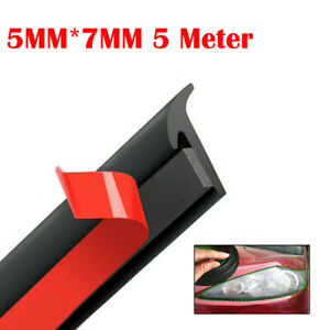 5m T Shape Rubber Weatherstrip Seal Strip For Suv Car Edge Door Moulding Trim