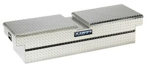 Lund 9250db Cross Bed Tool Box Dual Gull Wing Lids Brite Diamond Plate Length 6