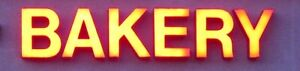 Used Led Channel Letters Business Sign Each Letter 18 Bakery