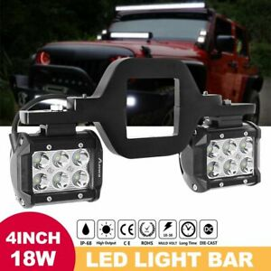 Trailer Tow Hitch Receiver Mount Bracket 4 Led Light Bar Offroad Truck Suv Utv