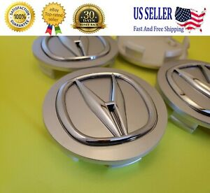 Acura Set Of 4 Silver Chrome Wheel Center Caps 69mm Satisfaction Guaranteed