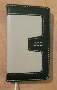2021 Black Weekly Lined Appointment Faux Leather Pocket Planner 6x3 5 Contacts