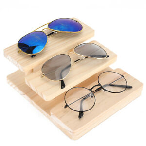 3 Layers Sunglasses Stand Wood Glasses Display Holder For Home Glasses Store