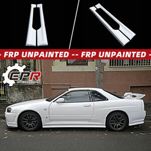 For Nissan Skyline R34 Gtt Esb Style Frp Unpainted Side Skirt Addon Bodykits