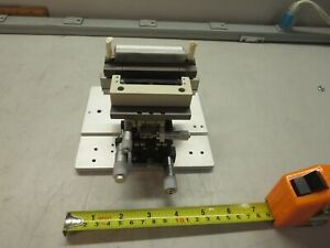 Misumi Rtss40 X y Axis Slide With 4 Micrometers See Photos
