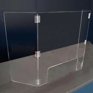 Sneeze Guard acrylic Fold 3 Sided For Desktop Counter For Retail School Library