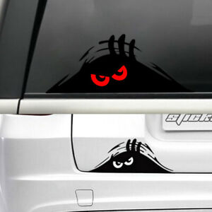 Red Eyes Monster Peeper Scary Funny Car Door Bumper Window Vinyl Decal Sticker