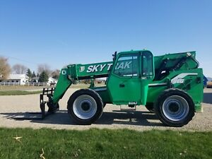 2013 Jlg Skytrak 6042 Enclosed Cab Fork Lift Telescopic 4x4 Foam Filled Tires