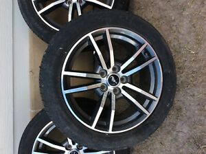 4 2017 Gt Ford Mustang Rims Wheels Tires Low Mileage Pirelli 235 50 Zr18 97