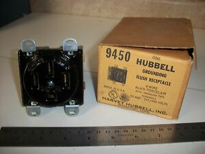 Hubbell 9450 Flush Receptacle 50 Amp 3 Pole 250 Volt Price Reduced