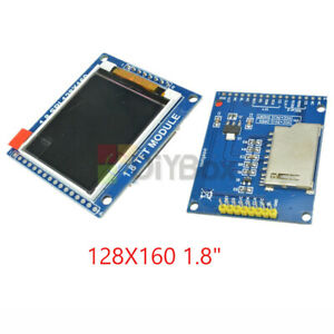 1 8 Serial 128x160 Spi Tft Lcd Module Display With Pcb Adapter St7735b Ic Sd