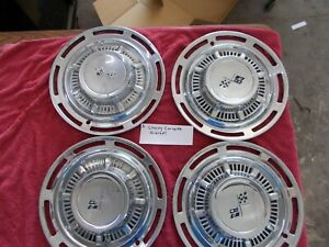 Vintage Four 4 Chevy Corvette Hubcaps