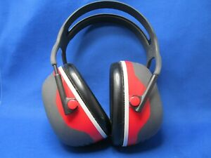 3m Peltor X3a X series Over the head Earmuffs Black Red Great Condition